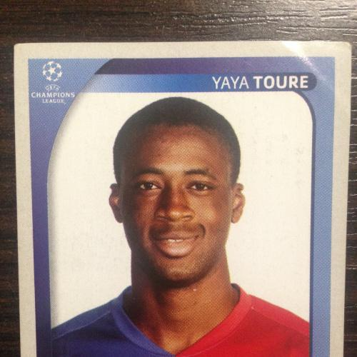 Наклейка. Yaya Toure.  Champions League 2008-2009. PANINI.