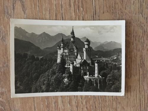 Открытка Замок Нойшванштайн, Германия, 1940 г