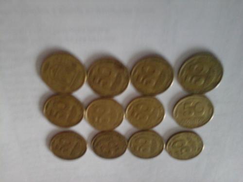 50 копеек  1994 года 12 штук , в 7 шт очень крупные насечки, в 5 шт мелкие насечки