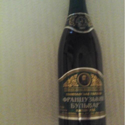Шампанское Французкий бульвар, полусухое, 2008 год. ,Одессавинпром. 0,75