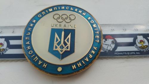 Настольная медаль, диаметр 60мм Национальный олимпийский комитет Украины Сочи 2014 год