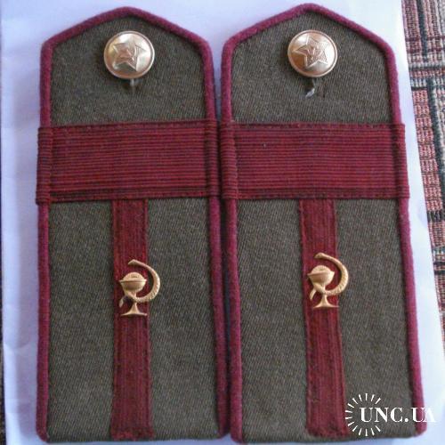 Погоны. Длина 15.5см Старшина-пехота-медицинский батальон 1943год.