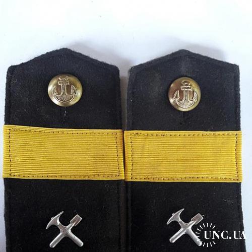 Погоны Старший сержант строительных частей береговых подразделений ВМФ СССР