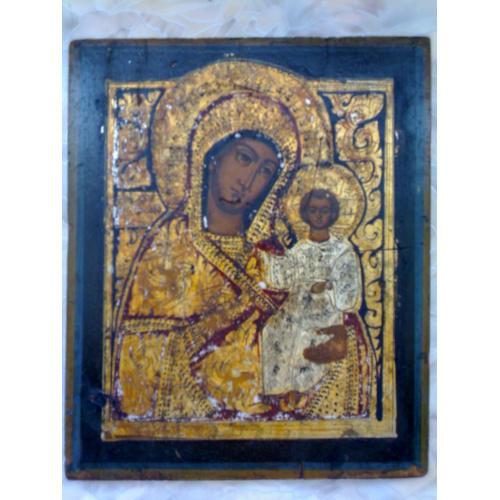 Икона Богоматерь, Россия, размер 26,5х21,8х1,9см,