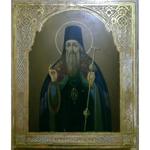 Святой Питирим, Россия, конец ХIХ века, размер 31х26,5х3,5см. Без реставрации.