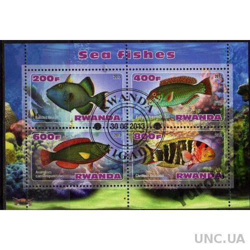 Руанда Фауна Морские обитатели Рыбы Блок