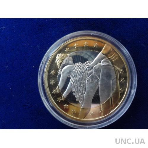 6 Euros  6 эрос Монета-жетон в капсуле
