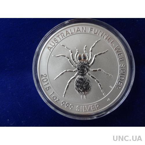 Австралия 1 доллар 2015 Копия серебро Тарантул