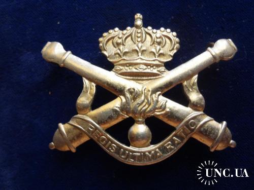 """БЕЛЬГИЯ полковой знак ''Королевская артиллерия''Artillerie Belgique """"Regis Ultima Ratio''"""