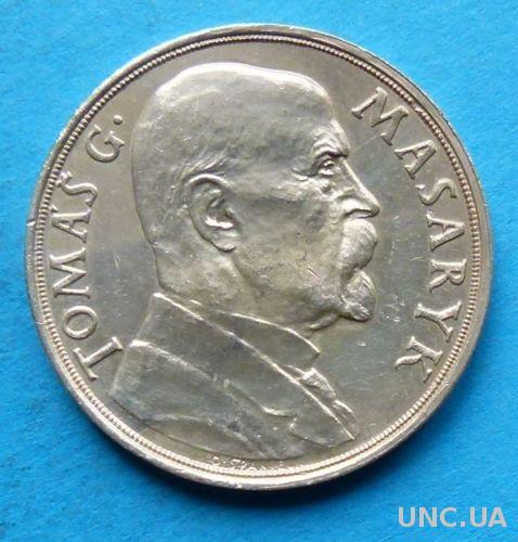 Чехословакия, медаль президент Томаш Масарик 85 лет со дня рождения, 1935 серебро