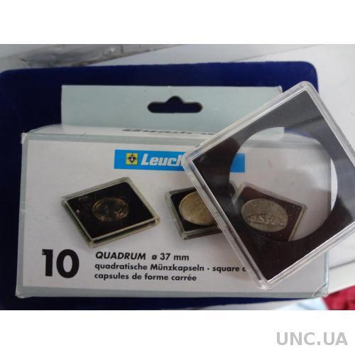 Капсула для монет Квадрум пластик 37 мм