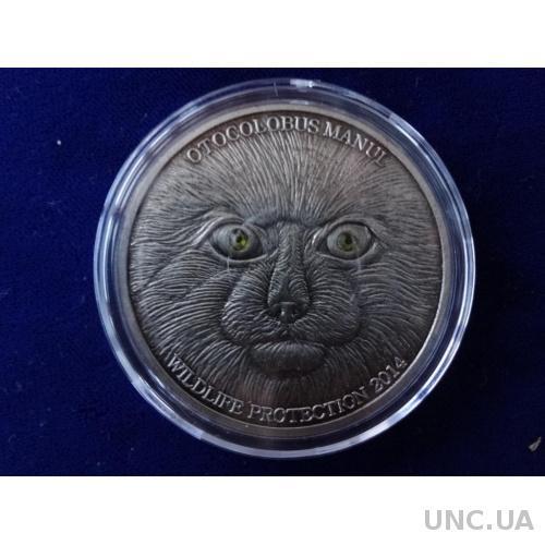 Монголия 500 тугриков Манул дикий кот 2014 копия
