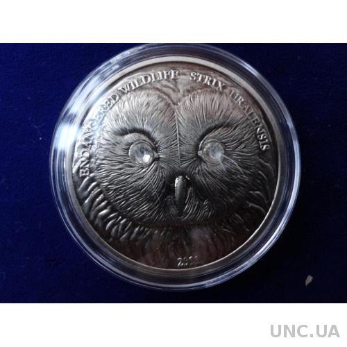 Монголия 500 тугриков Уральская сова 2011 копия