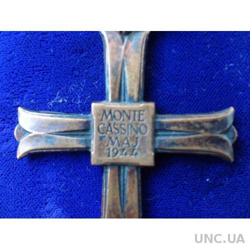 "Польша крест ""За Монте Кассино"" 1944   № 40213"