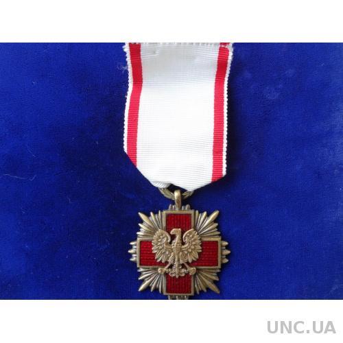 """Польша крест """"За Заслуги польского Красного Креста """" 4-я степень"""