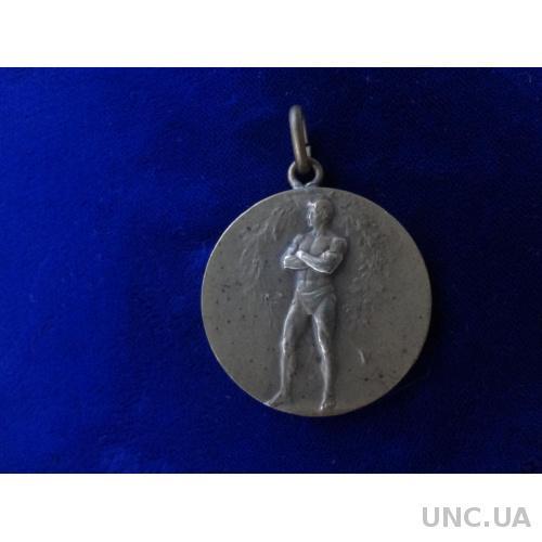 Польша Спортивная медаль 1930 Класическая борьба  бронза
