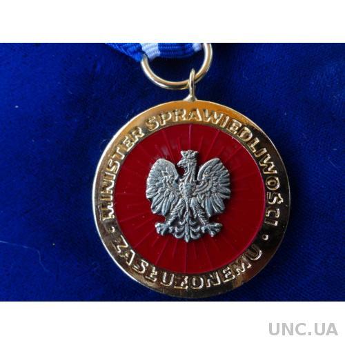 """Польша золотая медаль """"За Заслуги в пенициарной службе"""""""