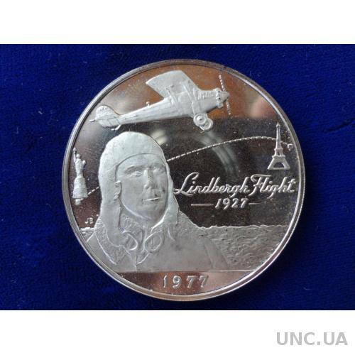 Самоа и Сифико 1 тала 1977 серебро Чарльз Линдберг американский лётчик