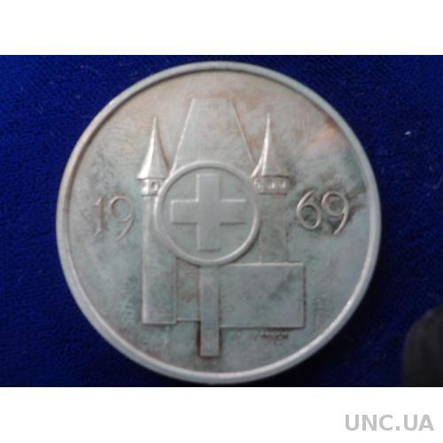 Швейцария стрелковая медаль 1969 серебро