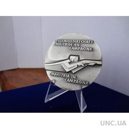 Швейцария стрелковая медаль чемпиона по стрльбе с карабина