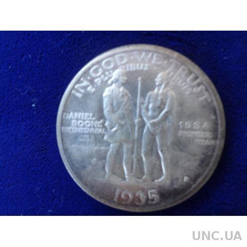 США 1/2 доллара США 1/2 доллара Пионеры 1936 серебро 50 центов копия