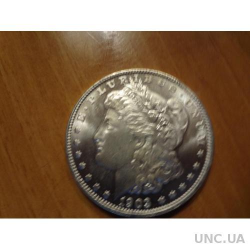 США 1 доллар 1903 Морган серебро, идеальная копия