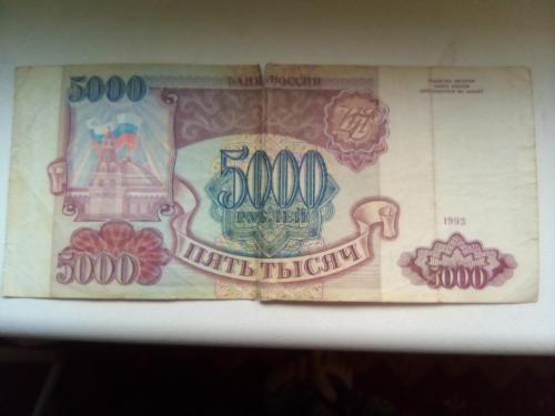 Банкнота России 5000 рублей 1993 года