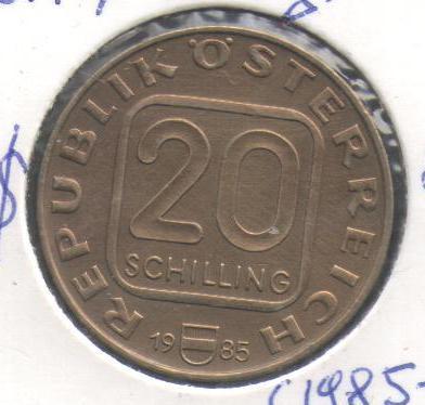 Республіка Австрія, 20 шилінгів, 1985, 200 р. архиєпископству в Лінці (Верхня Австрія)