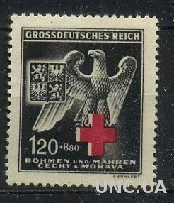Богемия и Моравия, Рейх 1943 Мих. 132 Красный крест без клея