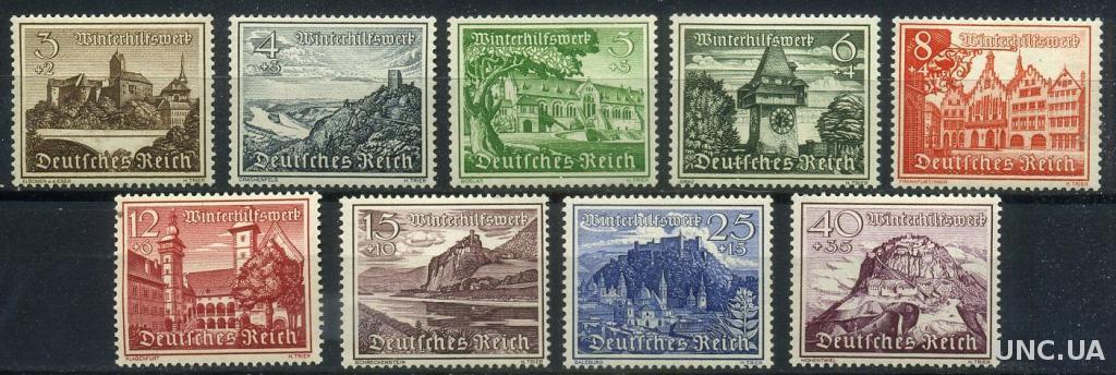 Германия, Рейх 1939 Мих. 730-738 MNH