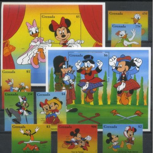 Гренада 1996 Дисней, Микки Маус, Мульфильмы, Танцы MNH