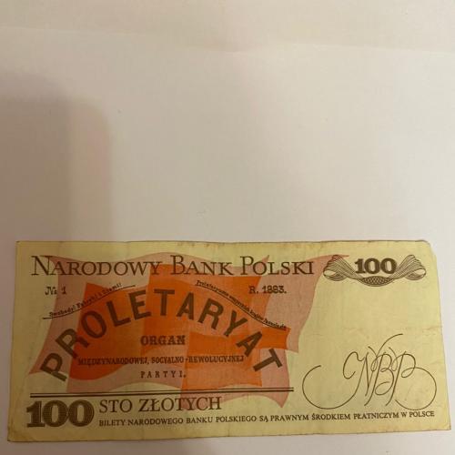 Польша 100 злотых 1883 год