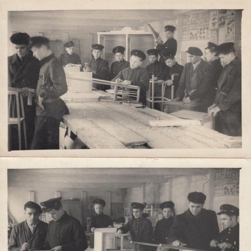 2 Фото. Учащиеся ремесленного училища на занятиях.
