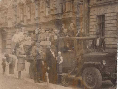 Фото. День шахтера. Львов. 1949 г.