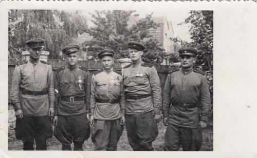 Фото. Группа бойцов. Период войны.