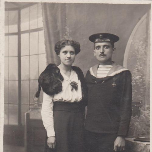 Фото. Матрос с девушкой. Австро-Венгрия.