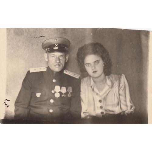"""Фото. Железнодорожник в """"бутылочных"""" погонах НКВД."""