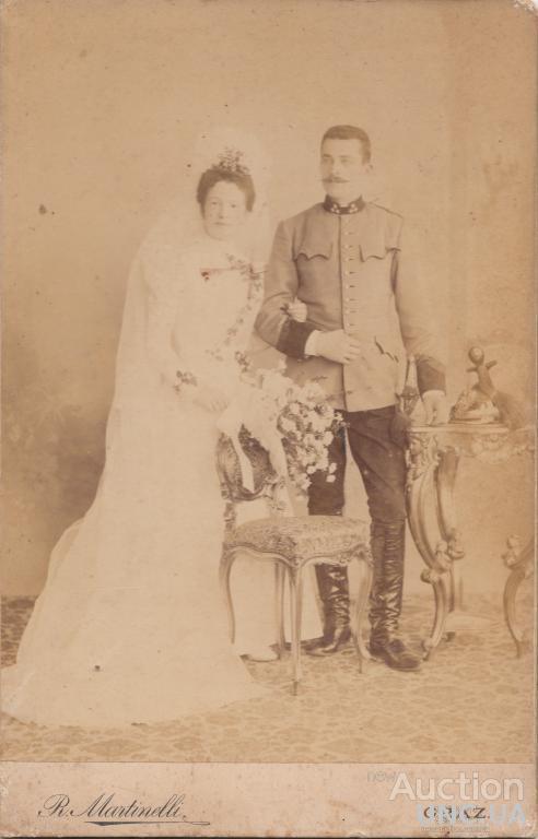 Свадебное фото ротмистра. Австро-Венгрия.