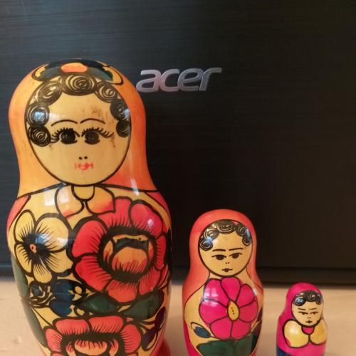 Матрешка 3 куклы СССР