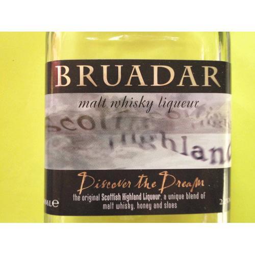 Бутылка пустая BRUADAR MALT WHISKY LIQUEUR,  ШОТЛАНДИЯ. 0.35л
