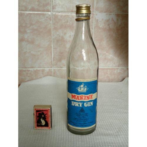Бутылка пустая MARINE DRY GIN  0,5л Венгрия 1980-е