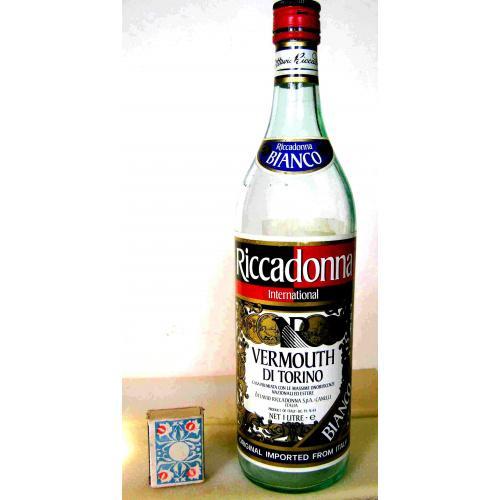 Бутылка пустая  RICCADONNA VERMOUTH  DI TORINO  1л Италия. 1980-е г.