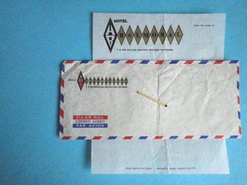 Конверт чистый Авиа с фирменной бумагой для письма Коста Рика 1970-е гг.