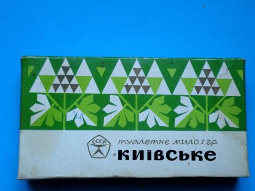 Коробка от Туалетное мыло Киевское 1970-е годы.