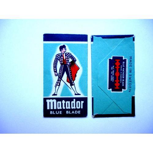 Лезвие с этикеткой Matador Blue Blade. Швеция, 1950-1960-е годы.