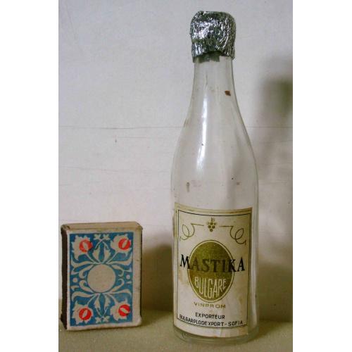 Мини бутылка 0,1л из-под водки MASTIKA Болгария 1960-е годы