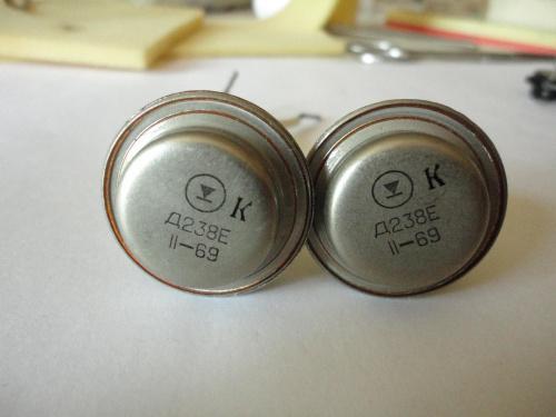 Тиристор Д238Е 2шт. одним лотом 1969 год