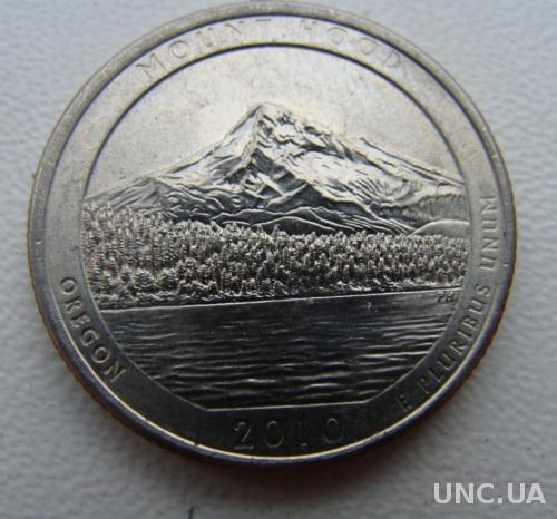25 центов США  Mount Hood 2010