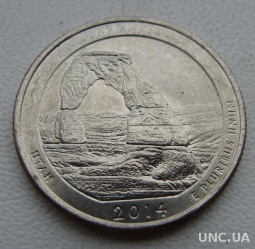 25 центов США  Парки Arches