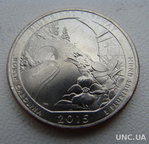 25 центов США  Парки США Blue Ridge  2015